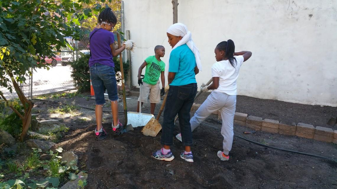 RoboRebels Team attend & participate in Fall Gardening Workshop @ First Quincy St Community Garden, Bklyn