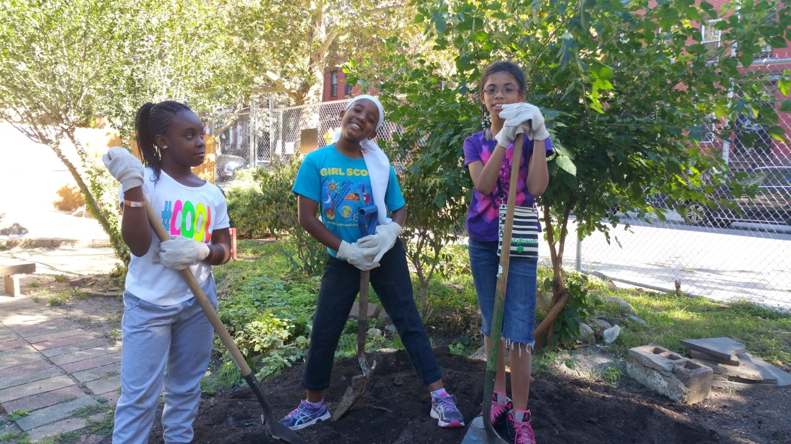 RoboRebels Team attend & participate in Fall Gardening Workshop @ First Quincy St Community Garden, Bklyn