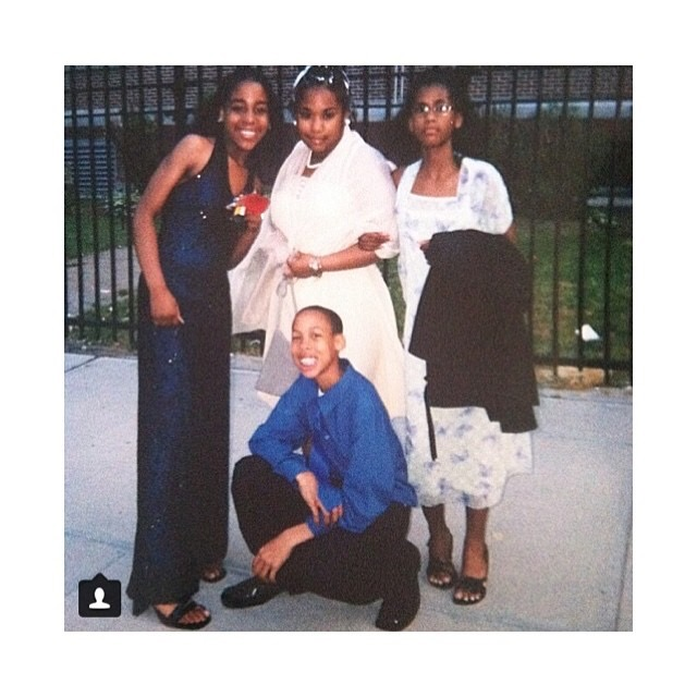 Jordan with his friends at the 6th grade prom.